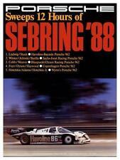 Porsche *LARGE POSTER* 1988 962 Race Car SEBRING - AMAZING ART PRINT  911