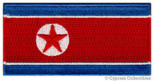 NORTH KOREA NATIONAL FLAG PATCH EMBROIDERED IRON-ON KIM JONG UN IL APPLIQUE DPRK