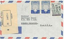 OLYMPIC GAMES / BASKETBALL - REGISTERED COVER from  PARAGUAY to HAITI 1960