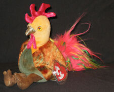 TY ZODIAC ROOSTER BEANIE BABY - MINT with MINT TAG