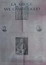 """"""" LA CROCE SUL CAMPIDOGLIO """" 26.10.1924 """" NUMERO UNICO ! """" ORIGINALE D'EPOCA """""""