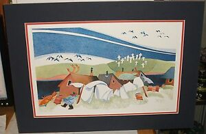 """RIE MUNOZ """"SUMMER STORM AT BUCKLAND """" LIMITED SIGNED LITHOGRAPH LISTED ARTIST"""