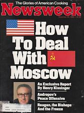 NEWSWEEK Magazine November 29, 1982 -- Reagan and Russia, LBJ, Andropov