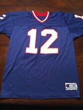Euc Rare Vintage Mens Champion Football Buffalo Jim Kelly12 Size 48 Xl