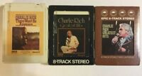 Charlie Rich Lot of 3 8-Track Tapes- There Won't Be Anymore Greatest Hits RCA