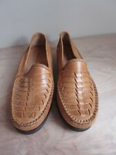 Giorgio Brutini Light Brown Leather Woven Loafer Slip On Men's Shoes Size 9 D