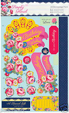 Docrafts Papermania A4 Decoupage pack Simply Floral BRIGHT BLOOMS Birthday Love