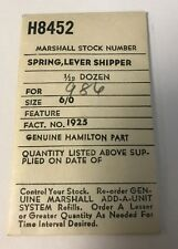 Hamilton watch part Lever Shipper Spring for 6/0s, No. 1925 Marshal Stock H8452