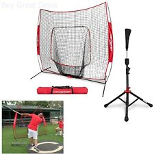 Net/Tee Practice Baseball Softball Pitching Hitting Screen Batting Bow Frame New
