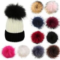DETACHABLE COLOURED FAUX FUR POM POMS FOR HATS AND CLOTHES ACCESORIES UK