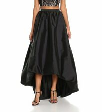 NEW Adrianna Papell High Low Bubble Ball Skirt Black [SZ 4] #N762