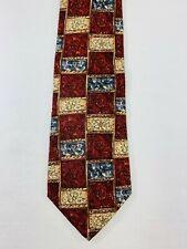 Bill Blass Men's Art Deco Patterned Silk Tie