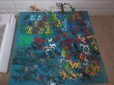 Lot figurine ancien Far west indien cowboy soldat plastique militaire animaux