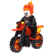 Ghost Rider Custom Lego Mini Figure With Motorbike Marvel Comics UK