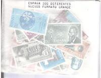 LOTE 100 SELLOS ESPAÑA TODOS DIFERENTES NUEVOS FORMATO GRANDE