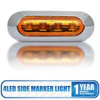 2 pcs 12V Amber LED Side Marker Light Indicator Lamp Truck Trailer Caravan Lorry