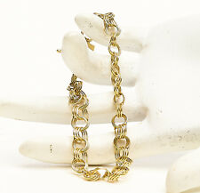 Authentic Solid Yellow Gold 14KT Fancy Rolo Chain Bracelet 8.40g 55-22