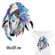 Bügelbild buntes Pferd, Hotfix  18 x 23 cm Applikation für Ihre Textilien,
