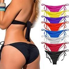 Women Brazilian Bikini Thong Bottoms Beach Swimwear Runched Cheeky Swimsuit A87
