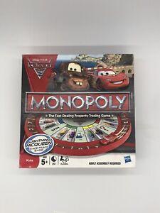 Monopoly Pixar Cars 2 Edition 99.9% Complete VGC Hasbro *****Free Delivery!*****