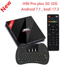 H96 Pro Plus Android 7.1 TV Box 3G RAM + 32G ROM Amlogic S912  Wireless Keyboard