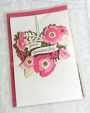 NEW! Die Cut Flowers Hallmark Signature Valentine's Day Valentine Card