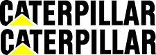 Caterpillar Stickers 2 x 600mm x 100mm BLACK Quality Marine Grade Material