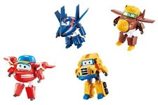 Super Wings - Pack 4 Robot Trasfor. - Flip + Agent Chace + Poppa Wheels + Todd