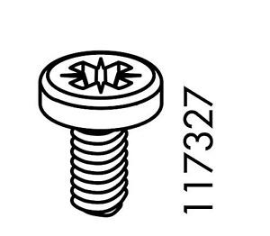 10x IKEA SELF TAPPING SCREWS, STEEL PART # 117327