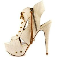 Details about  /Black Platform Gravity Wedges Peep Open Toe High Heels Shoes Kelsi Dagger 7 7.5