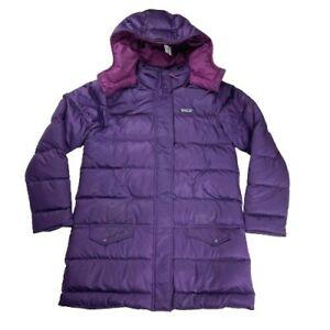 Patagonia Down Sweater Girls Purple XL (14) Puffer Jacket Hoodie