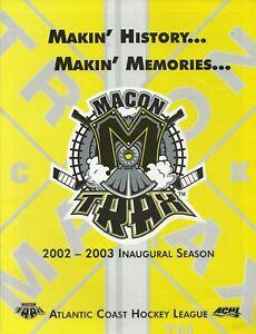 2002-03 Macon Trax Vs Cape Fear Fire Antz Program ACHL