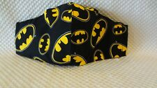 BATMAN - Adult Face Mask 100% Cotton Homemade, MADE In USA Washable, Reusable