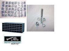 GRADE 5 COARSE BOLT NUT & WASHER ASSORTMENT 6550 PC W/ BOLT BIN & NYLON LOCK NUT