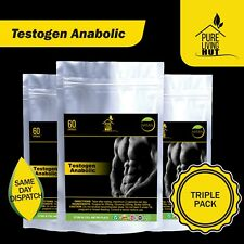 Testogen Anabolic Capsules, Testosteron, Muscle & Libido Booster, 100% Natural..