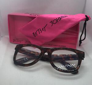 Betsey Johnson +1.50 Designer Blue Light Blocking Glasses Tortoise NEW