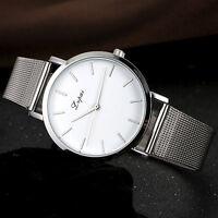 Fashion Men's Women Watch Stainless Steel Analog Quartz Boy Sport Wrist Watch UK