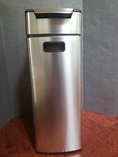 Simplehuman Stainless Steel Fingerprint Proof Recatagular 40L Touchbar Trash Can