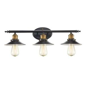 Bel Air Lighting Griswald 3-Light Rubbed Oil Bronze Bath Light