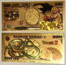 Carte Dragon Ball Billet Fancard Gold Custom Card 1000 Yen OR Nippon Ginko Color