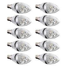 10x E14 3 LED Kerze Birne Energiesparlampe Lampe Strahler 6W Warmweiss 3000K GY