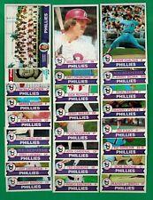 1979 Topps Baseball Philadelphia Phillies complete team set - Schmidt, Carlton