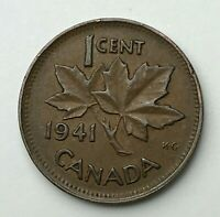 Dated : 1941 - Canada - One Cent - 1 Cent Coin - King George VI
