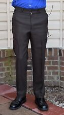 "Vintage 60's Men's Mod Hipster Dark Brown 100% Wool Pants Size 32"" W 29"" In + 2"""