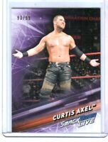WWE Curtis Axel #19 2019 Topps SmackDown Purple Parallel Card SN 93 of 99
