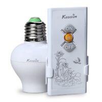 Wireless Remote Control Lamp Light Bulb Socket E26 E27 Base with Remote Switch