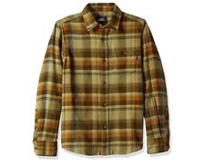 O'NEILL Boys' Big Redmond Flannel,Army,Size SMALL,