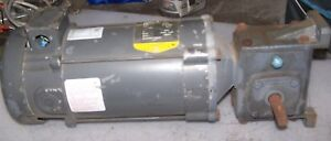 BOSTON GEAR 10:1 RATIO DC GEARMOTOR 180 VDC 3/4 HP 1750 RPM 56C FRAME