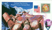 PETRIFIED FOREST NATIONAL PARK Holbrook, Arizona Color Photo Cachet Handstamped