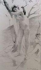 Antoine Calbet (1860 -1944) L'Inconnue l' Estampe moderne 1887 XIXe nu féminin .